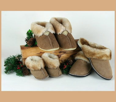 Men's and Women's Sheepskin Slippers