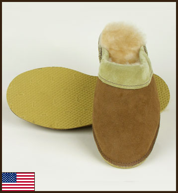 All American Sheepskin Scuff, Men's: click to enlarge