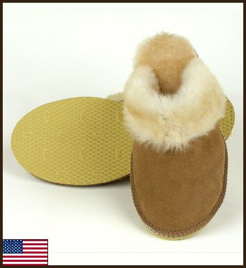 All American Sheepskin Scuff, Women's: click to enlarge