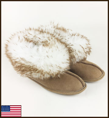 All American Sierra Princess Slipper, Leather Sole: click to enlarge