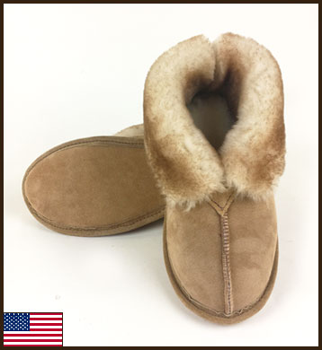 All American Sierra Slipper, Leather Sole, Women's: click to enlarge