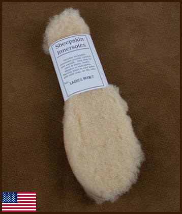 Women's Sheepskin Innersoles: click to enlarge