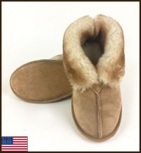 All American Sierra Slipper, Leather Sole, Men's